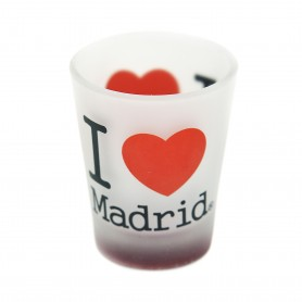 I LOVE MADRID, CONICAL DRINK GLASS, 60ml. - Souvenir from Spain