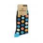 Mid Calf Dots Socks