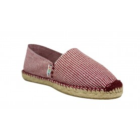 Classic Houndstooth Burgundy Espadrilles